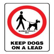 Prohibition safety sign - Keep Dogs On a Lead 162